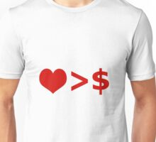Love is more important  than Money Concept Illustration Unisex T-Shirt