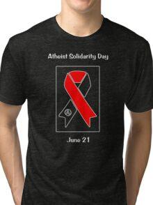 Atheist Solidarity Day -- June 21 Version 2 Tri-blend T-Shirt
