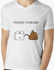 Friends Forever - Poop and Toilet roll Mens V-Neck T-Shirt