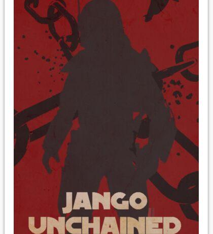 Star Wars Jango Fett Unchage - Django Unchained Logo Sticker