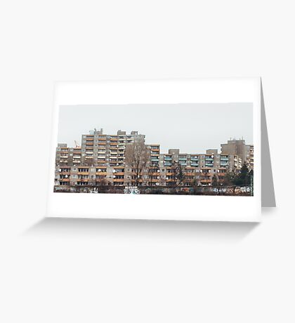 Brutalist Berlin Architecture - Apartment Block in Winter Greeting Card