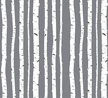 Grey Birch by CrownedRabbit