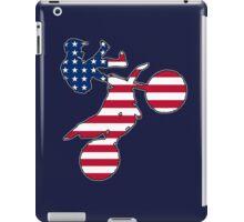 American flag dirt bike iPad Case/Skin
