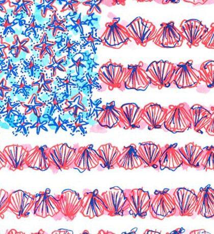 Lilly USA Flag Sticker