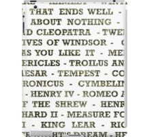 Shakespeare Plays  iPad Case/Skin