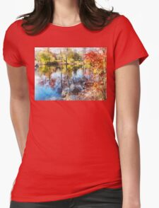 Autumn Lake Womens Fitted T-Shirt