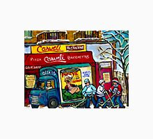 CARVELI'S PIZZA MONTREAL HOCKEY ART PAINTINGS WINTER IN THE CITY  Unisex T-Shirt