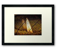 Flame's Reflection Framed Print
