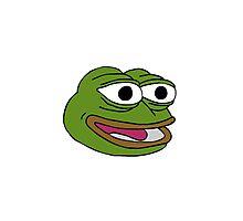 Singular Pepe the frog design. Photographic Print