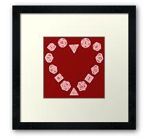 Dice Heart Framed Print