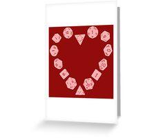 Dice Heart Greeting Card