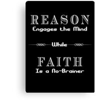 Reason vs. Faith Canvas Print