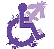 Disabled and Non-Binary 2 Photographic Print