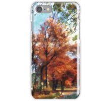 Autumn Street Perspective iPhone Case/Skin