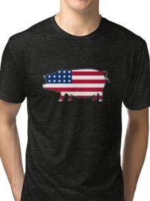 American flag pig Tri-blend T-Shirt