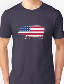 American flag pig Unisex T-Shirt