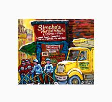 DELIVERY TRUCK NEAR SIMCHA'S FRUIT STORE CANADIAN ART MONTREAL STREET SCENE Unisex T-Shirt