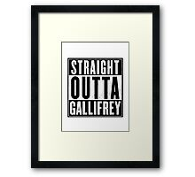 Doctor Who - Straight outta Gallifrey Framed Print