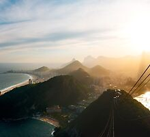 Rio de Janeiro Skyline With Christ the Redeemer Seen From Sugarloaf by visualspectrum