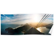 Rio de Janeiro Skyline With Christ the Redeemer Seen From Sugarloaf Poster