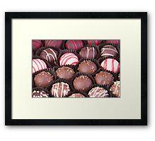 Chocolate Truffles Galore Framed Print