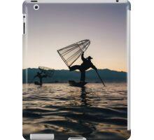 Two Traditional Fishermen on Inle Lake, Burma iPad Case/Skin