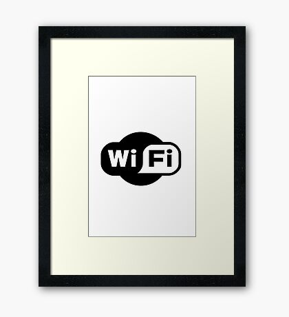 Wi-Fi logo Framed Print