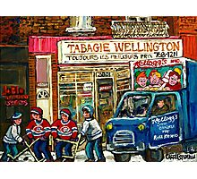 WINTER IN THE CITY TABAGIE WELLINGTON VERDUN DEPANNEUR CANADIAN ART BY CANADIAN ARTIST Photographic Print