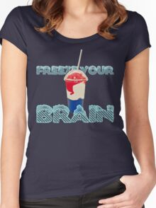 Freeze Your Brain-Heathers The Musical Women's Fitted Scoop T-Shirt