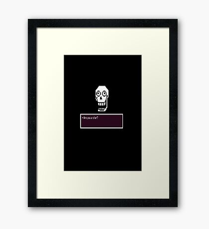 Are you a star?: Undertale design Framed Print
