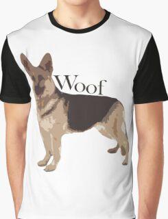 Woof - Alsatian Graphic T-Shirt