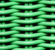Green Basket Weave Sticker