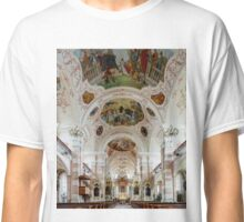 Ebersmunster Abbey Cathedral panoramic view, baroque style, Alsace, France Classic T-Shirt