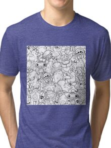 Creepies Collage Tri-blend T-Shirt
