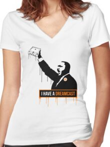 I have a Dreamcast Women's Fitted V-Neck T-Shirt