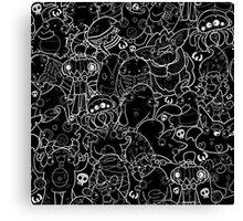 Creepies Collage Canvas Print