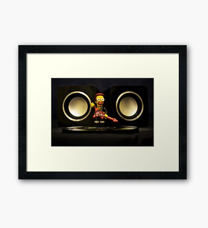 Ned Flanders the Rockstar Framed Print