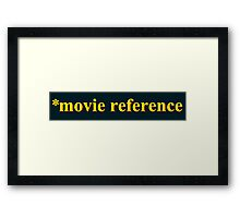 Movie Reference - *batteries not included Framed Print