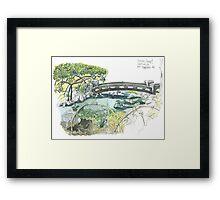 Japanese garden Budapest Framed Print