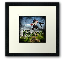 Win The Day - Video Game LGHT Framed Print