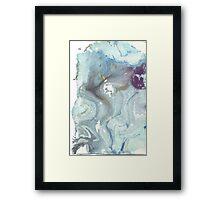 Ocean Marble Framed Print
