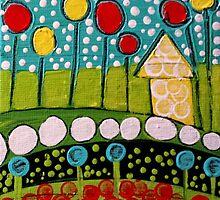 Polka Dots House by tremblayart