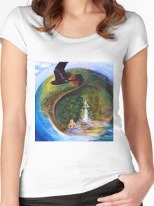 Baby Saves the Sunshine Coast Australia Women's Fitted Scoop T-Shirt