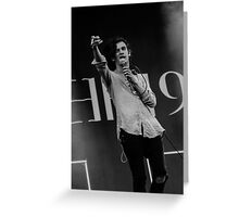 The 1975- Matthew Healy Greeting Card