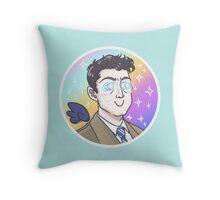 Fluffy Castiel Throw Pillow