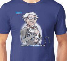 Bernie Sanders hugging a cat. Unisex T-Shirt