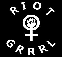 Riot Grrrl V.3 (Sticker) by AJColpitts