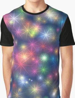Cute colorful Stars Graphic T-Shirt