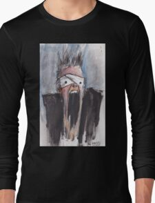 Study of Button Eyes - David Bowie Portrait Long Sleeve T-Shirt