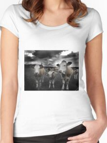 Cow Storm Women's Fitted Scoop T-Shirt